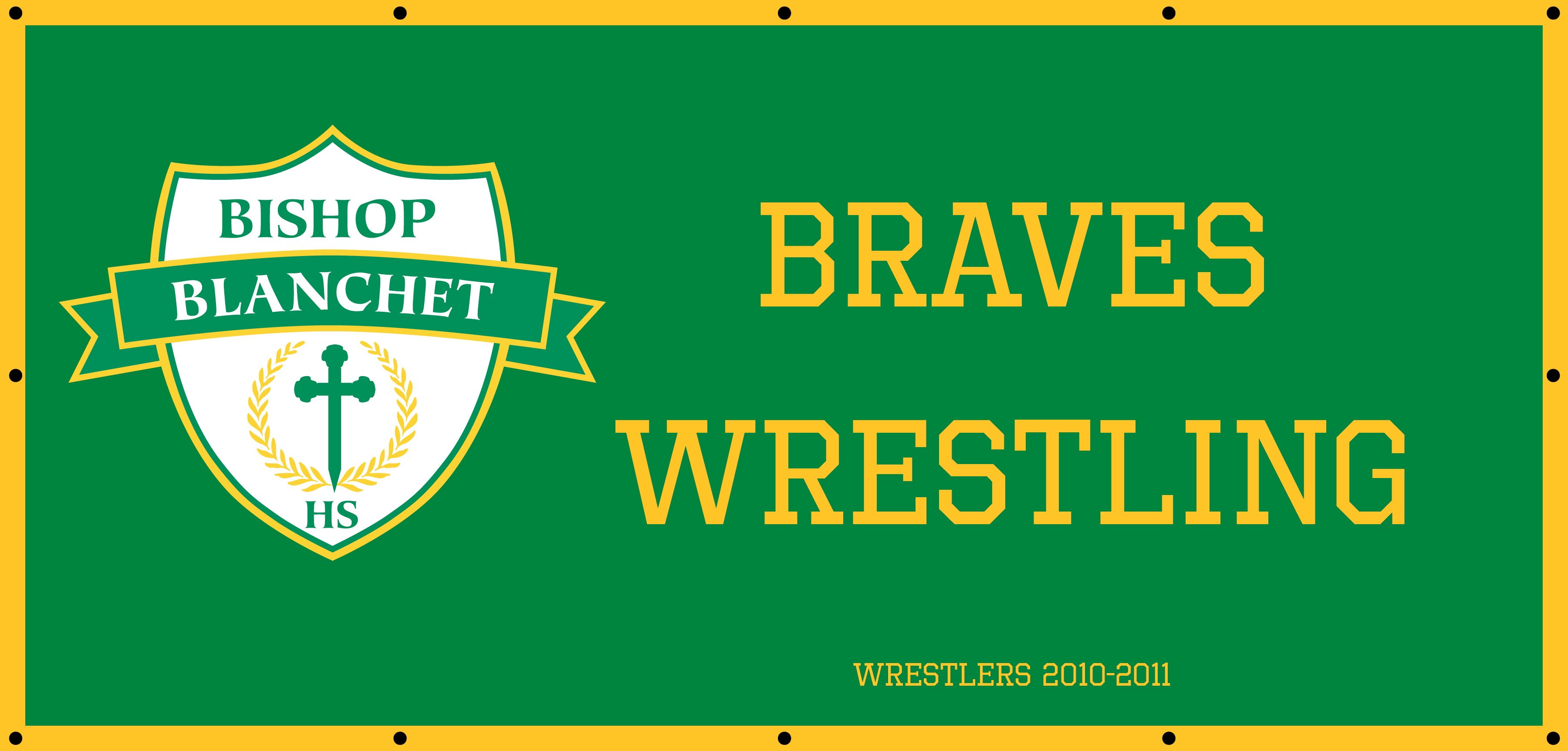 Wrestling Banner Sports Day